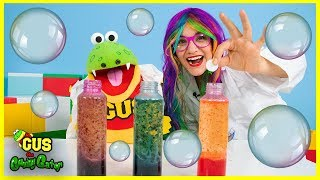 Learn Colors Lava Lamp Science Experiment with Gus and Rainbow Rae