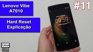 Lenovo Vibe A7010 - Hard Reset [ Explicação - Como fazer? ] - Português