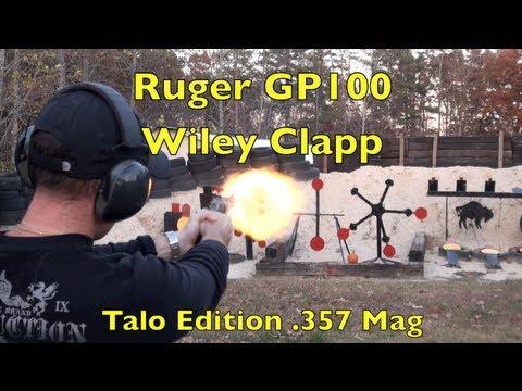 Ruger GP100 .357 Magnum Revolver Shooting