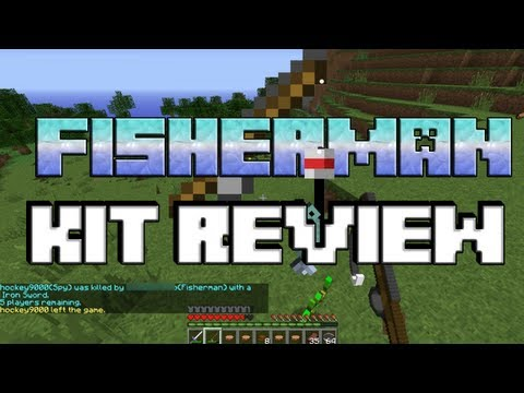 MCPVP.com   Review #25 FISHERMAN Kit Review   Minecraft Hunger Games