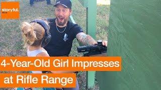 4-Year-Old Impresses at Rifle Range