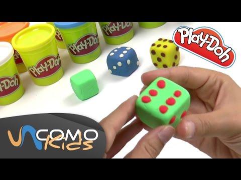 Hacer formas con plastilina - Dados Play-Doh