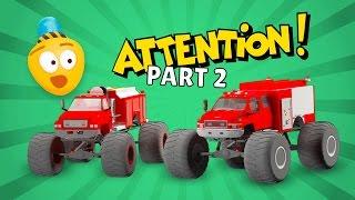 Fire Brigade's Monster Trucks - Cartoon for kids about Monster Fire Truck | New Episode