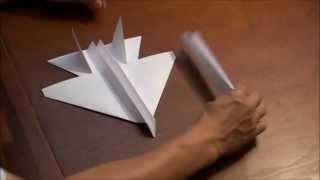 Летающий самолетик из бумаги своими руками