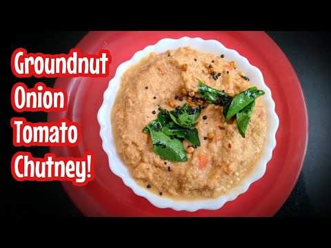 Groundnut onion tomato chutney
