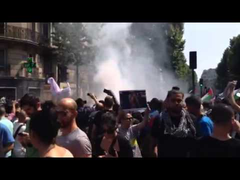 FRANCE 24 en direct de la manifestation pro-palestinienne à Paris