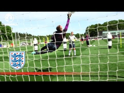 Joe Hart, Robert Green & Tom Heaton stop shots | Inside Training