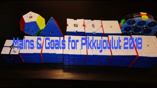 Mains & Goals for Pikkujoulut 2018 cubing competition!