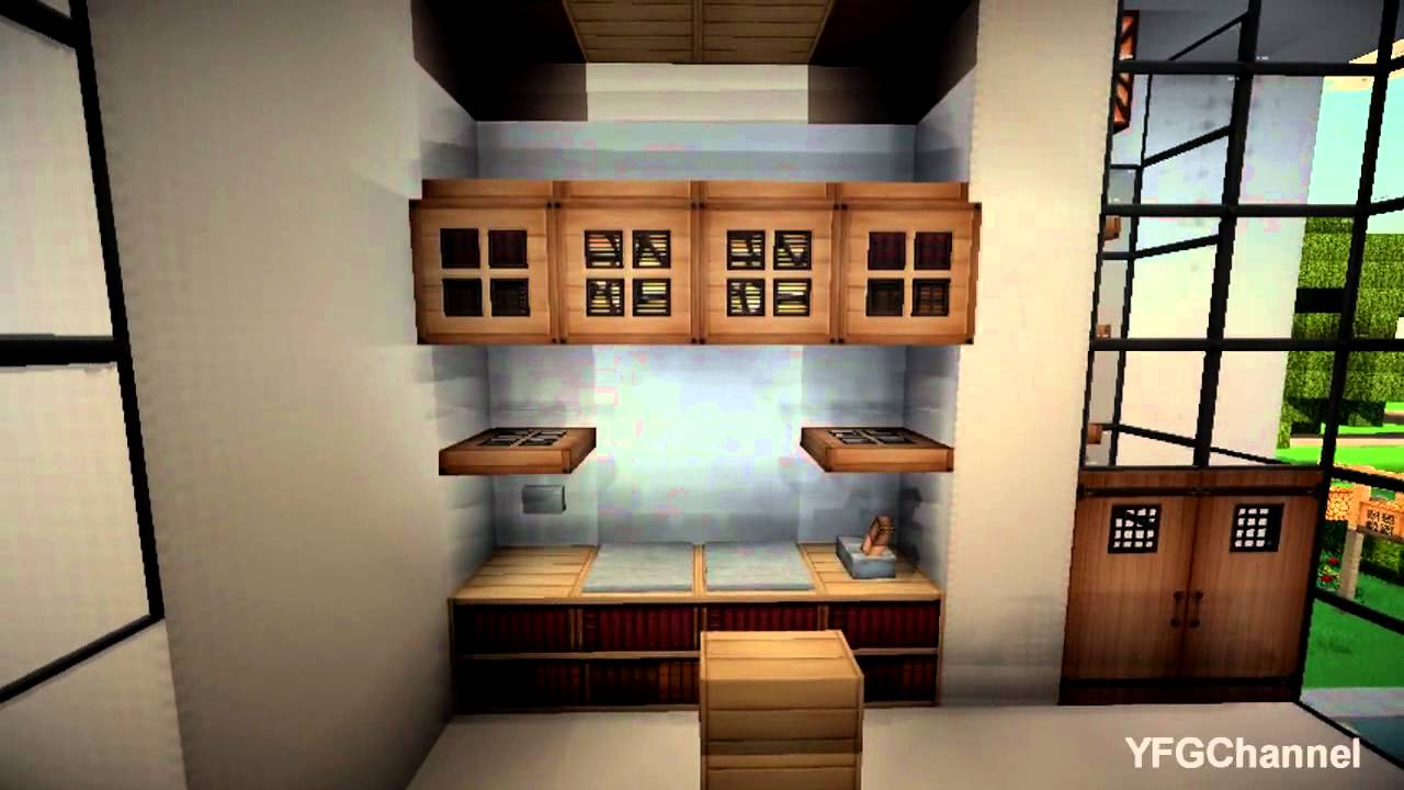 Minecraft modern house by antonove download youtube for Modern living room minecraft