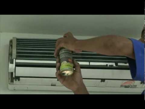 Produto para limpeza de ar condicionado veicular
