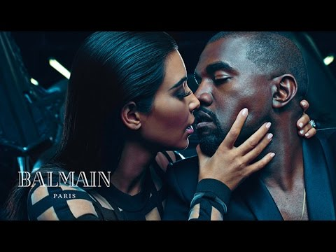 Kim Kardashian & Kanye West Make Out in Balmain Campaign - PHOTOS