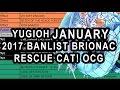 YUGIOH JANUARY 2017 BANLIST RESCUE CAT IS BACK! BRIONAC, IMPERIAL ORDER WTF!? (OCG JAN 1ST BANLIST)