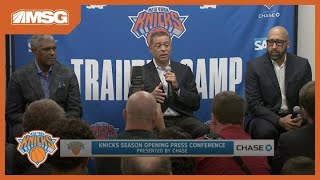Knicks Season-Opening Press Conference | Fizdale, Mills & Perry Look Ahead to 2019-20