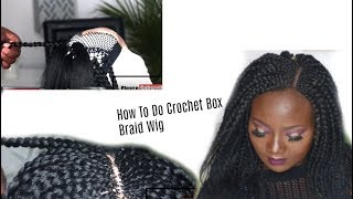 New Method!!!How To Do Box Braid Wig With OUT Lace Closure/REALISTIC BOX BRAID WIG FOR LESS #1