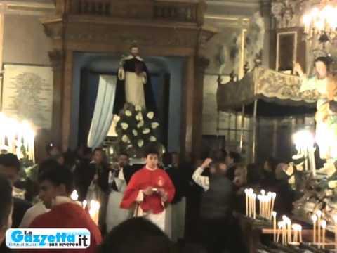 SAN SEVERO: FESTA DEL SOCCORSO -- L'ARRIVO DEI SANTI IN SANTUARIO PER LA PROCESSIONE DEL PARADISO