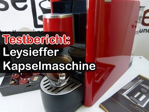 Leysieffer Premium Kapselmaschine im Test [Zubereitung Espresso, Cafe Crema]