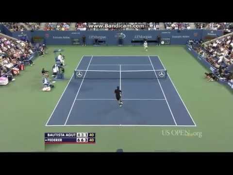 Roger Federer vs Roberto Bautista Agut US Open 2014 R4 Highlights (HD)
