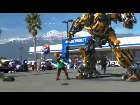 transformers bumblebee chevy  camaro commercial ad