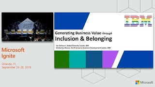 Diversity and Tech Champion Sponsor Breakfast hosted by IBM - BRK1129