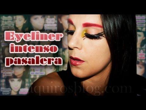 Maquillaje eyeliner pasarela | Silvia Quiros