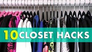 10 Closet Organization Hacks! Closet Organization Tips & Closet Hacks