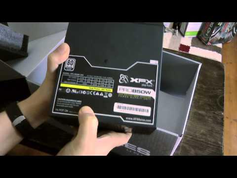 Imdur's Xfx 850w Pro Xxx Edition Psu Unboxing...phew! video