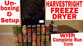 HARVEST RIGHT FREEZE DRYER--🔧Step by Step Setup🔧 & Complete Freeze Dry Process
