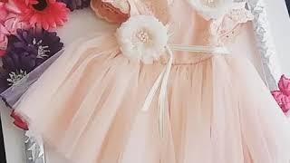 Sweet little apricot baby dress -New collection 2018,by babycouturenajlepsezanajmladje