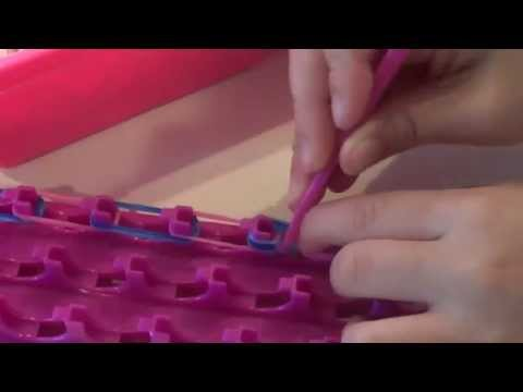 How to make a Crazy Loom Fingle Bracelet - super easy bracelet