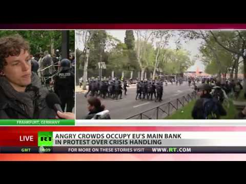 Thousands blockade European Central Bank