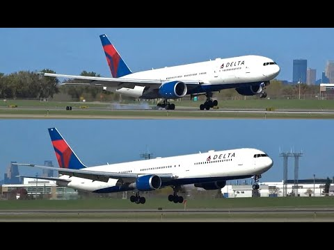 (HD) Welcome to Delta Air Lines Land - Plane Spotting Minneapolis St. Paul International Airport