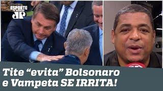 "Tite ""evita"" Bolsonaro, e Vampeta SE IRRITA: ""é charme! Ele já foi ver o Lula!"""