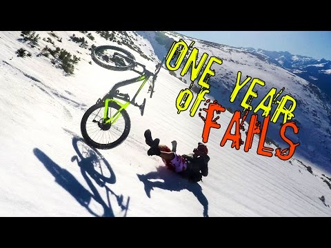 ONE YEAR OF FAILS - VTT freeride, enduro, DH - Pyrénées, Alpe d'Huez