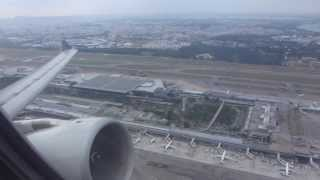 SQ976: Airbus A330 is rocketing off from Singapore-Changi - powerful takeoff with nice overview