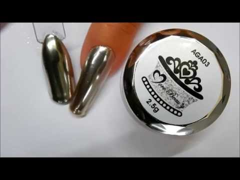 Daily Charme * Chrome / Mirror Powder * ----Top coated wth BUILDER GEL - NO CHANGE