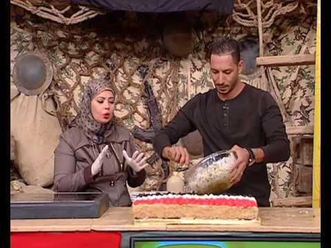 تورتة الرز بالفراخ في احتفالية نصر اكتوبر على شكل علم مصر