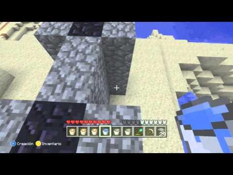 Minecraft Xbox 360: Tutorial - Como Hacer un portal al Nether Sin Pico de Diamante