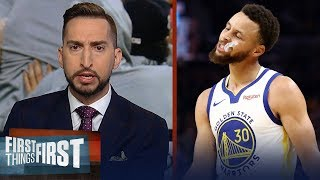 Steph's injury is disappointing not devastating for the Warriors — Nick | NBA | FIRST THINGS FIRST