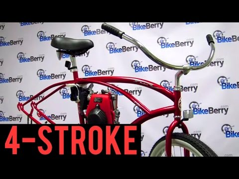 How To Install a 48cc 4-Stroke Engine Kit on your Bicycle by BikeBerrycom