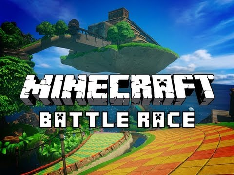 Minecraft BATTLE RACE Minigame w/ HuskyMudkipz, Charlie, and Jerome