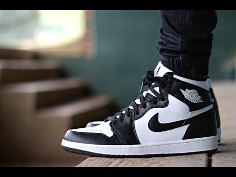 Air Jordan 1 Black White On Foot