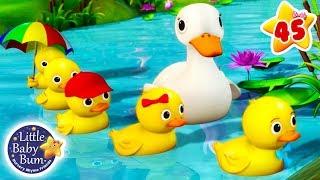 Five Little Ducks | + More Nursery Rhymes & Kids Songs | Songs for Children | Little Baby Bum