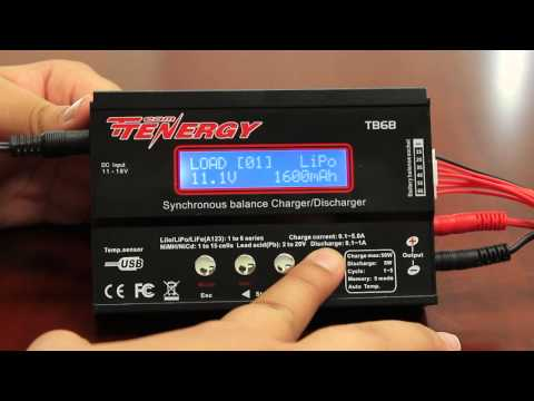 Tutorial: Tenergy TB6B Balance Charger for NiMH/LiPO/LiFe Battery Packs   All-Battery.com