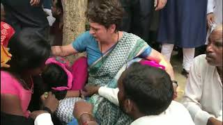 Sonbhadra Killings: Priyanka Gandhi condoles the family members of Victims