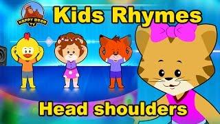 Head shoulders knees and toes - Kids rhymes by happy bear