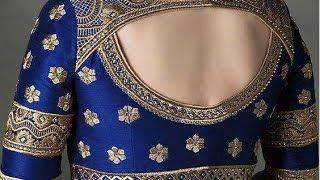 border work blouse designs
