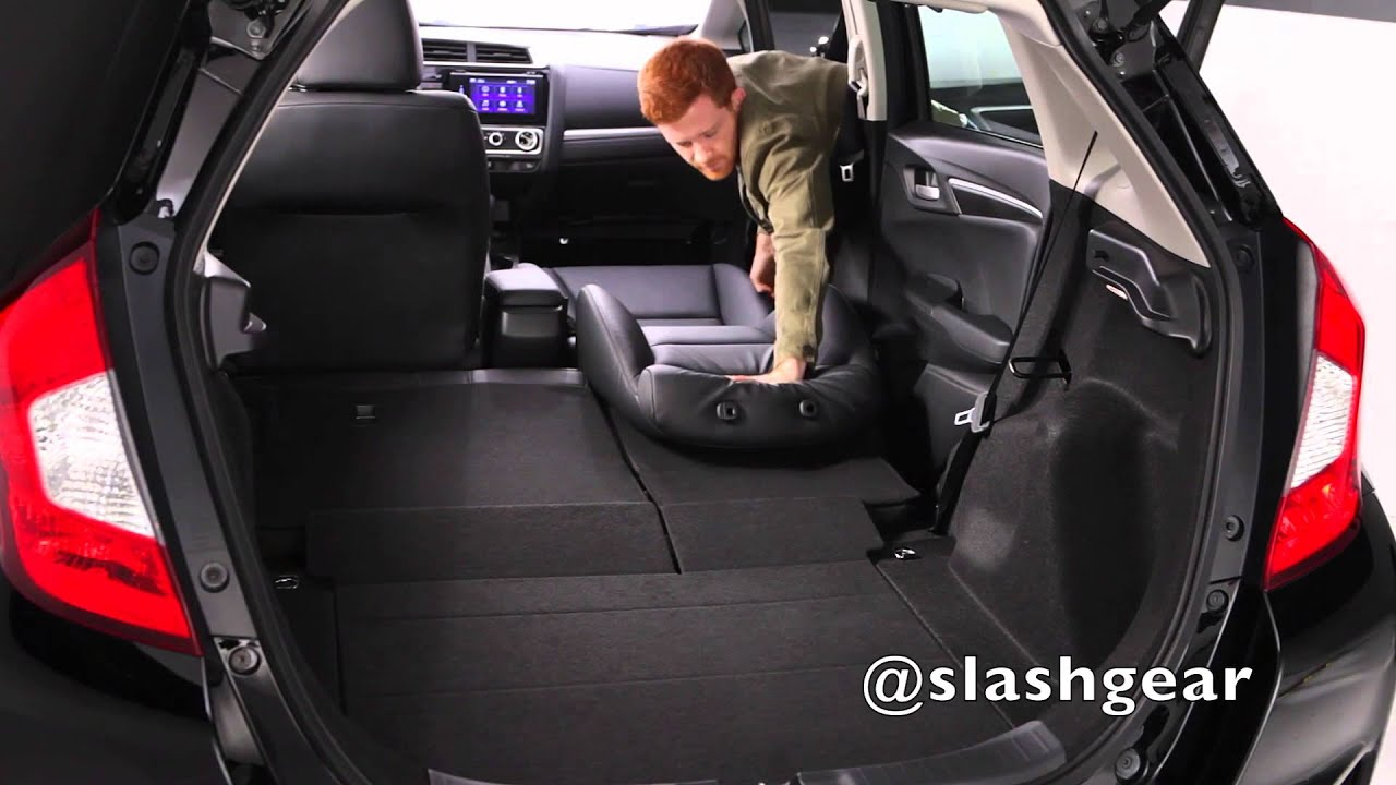 2015 Honda Fit Cargo And Rear Seat Options Youtube