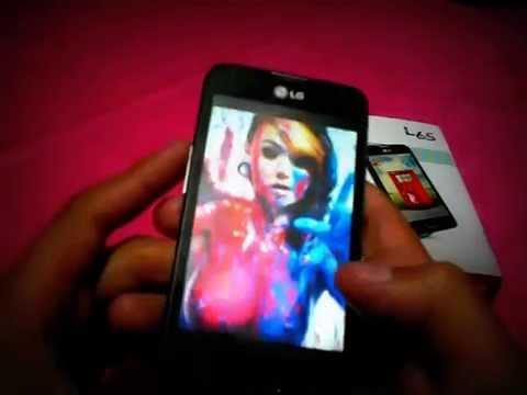 Captura de pantalla de un LG L65 Android