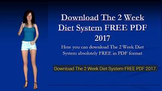 Download The 2 Week Diet System FREE PDF 2017