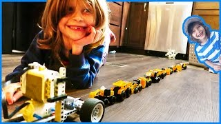 Toy Trucks Train with Lego Technic